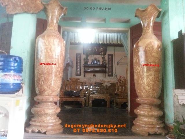 Căp Lôc bình Phú quí,Lộc bình 190cm gỗ nu LBN33