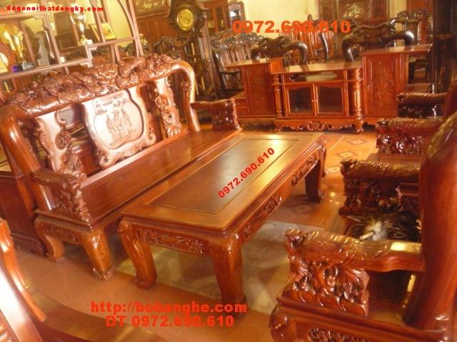 Bộ bàn ghế gỗ hương Kiểu Công phượng PC19