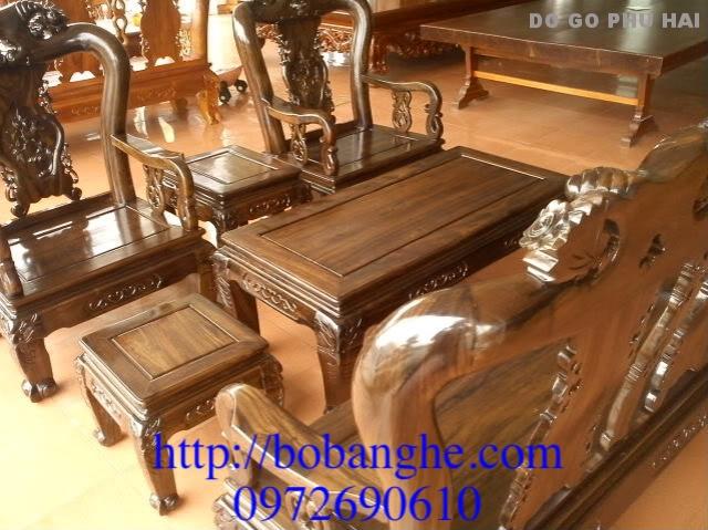 Bộ bàn ghế phòng khách minh quốc Hồng cột 10 MSK02