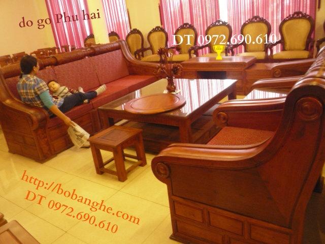đồ gỗ cao cấp Bộ bàn ghế Hộp trống HT03