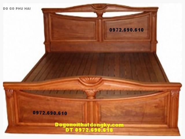 Giường ngủ gỗ gụ ,Giường đài loan GN7