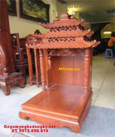 Bàn thờ thần tài gỗ gụ TT12