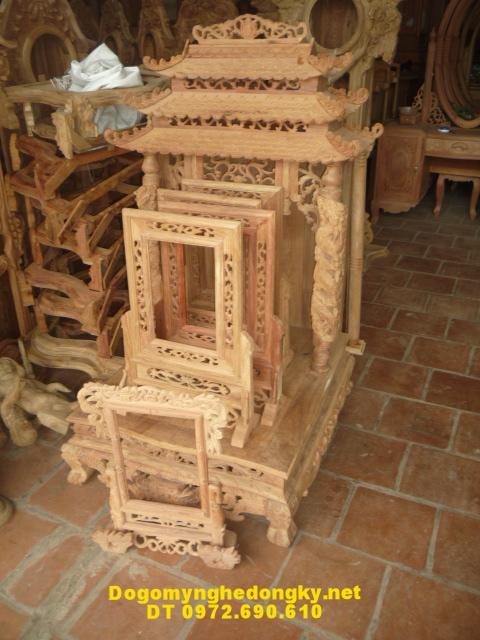 Bàn thờ thần tài gỗ hương TT13
