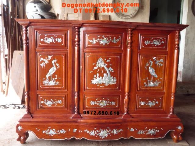 Tủ thờ khảm ốc Gỗ hương, Đồ gỗ Đồng Kỵ TT12