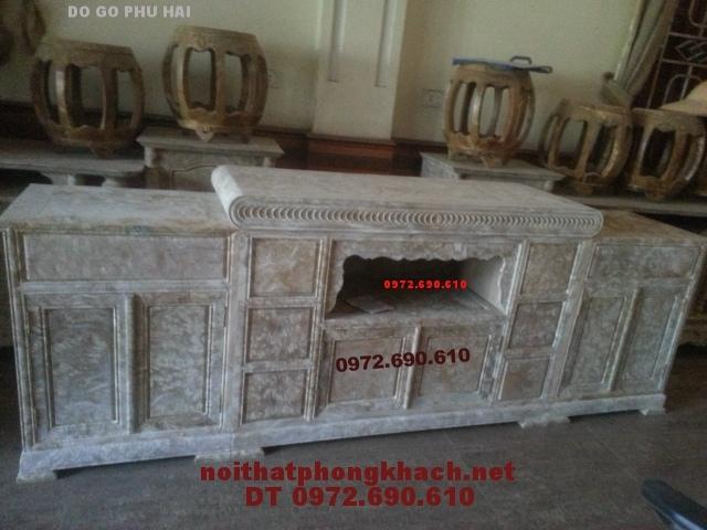 Kệ TiVi 3 cục Gỗ Nu Nghiến TVN09