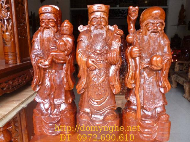 Bộ Tam đa ,Ba Ông Phúc Lộc Thọ gỗ Hương TĐ03