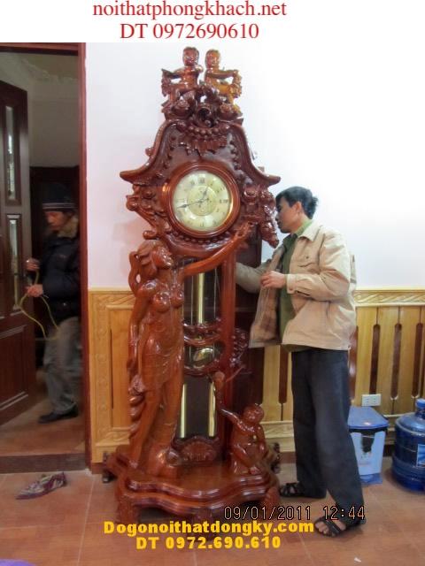 Đồng hồ cổ kiểu Pháp máy Hàn quốc ĐH06