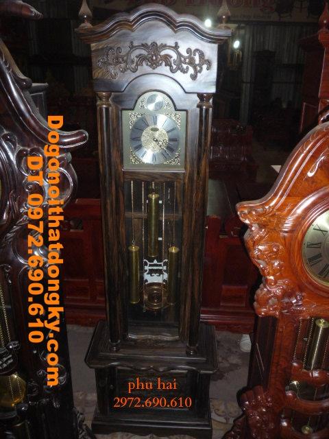 Đồng hồ cổ gỗ mun máy điện tử ĐH28