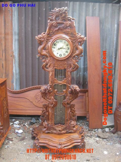 Đồng hồ cây Cửu Rồng máy điện tủ ĐH17