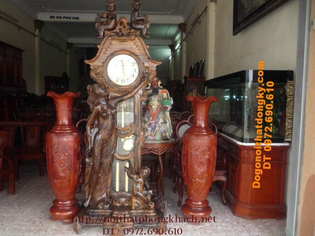 Đồng hồ cây kiểu Pháp gỗ cẩm ĐH18