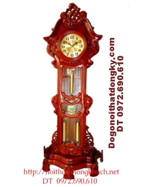 Đồng hồ cây gỗ hương Máy điện tủ ĐH22