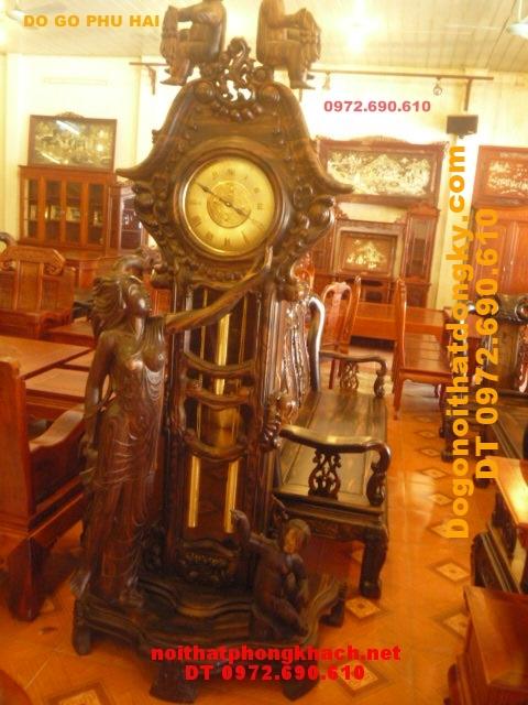 Đồng hồ đứng Gỗ Mun kiểu Thiên thần ĐH38