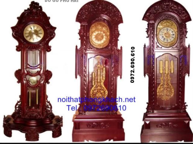 Đồng hồ đứng cham hoa văn ĐH2