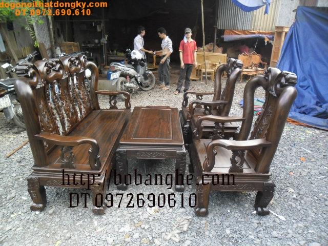 Bộ bàn ghế đồng kỵ Kiểu minh quốc Đào MS05