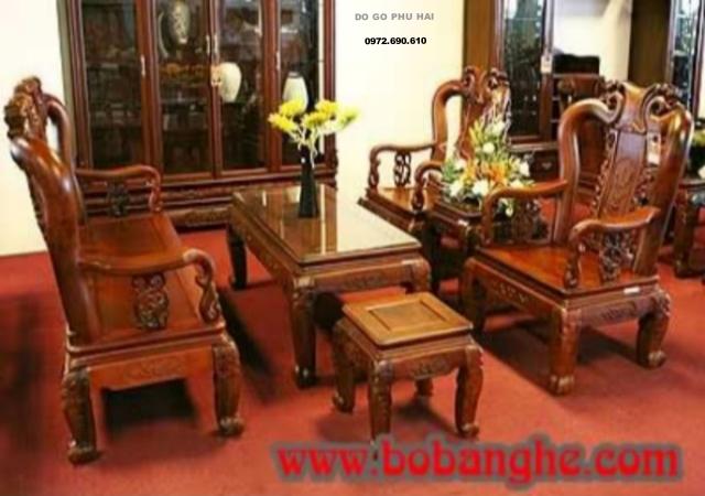 Bộ bàn ghế gỗ gụ minh quốc đào cột 9 MG04