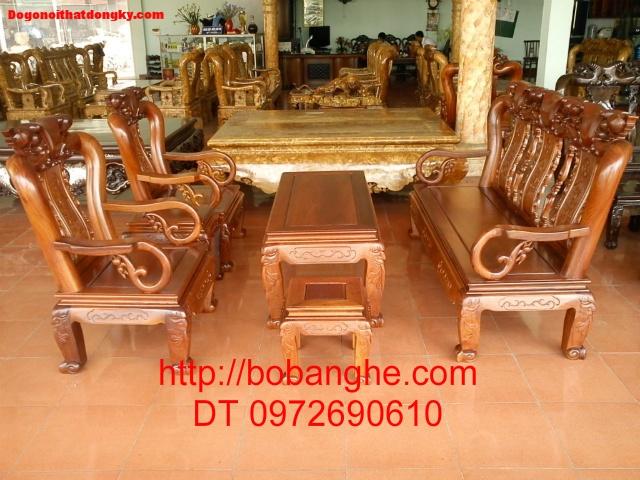 Bộ bàn ghế gỗ gụ Minh Quốc MG01