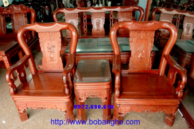 Bàn ghế Gỗ gụ minh quốc Triện C10QT01