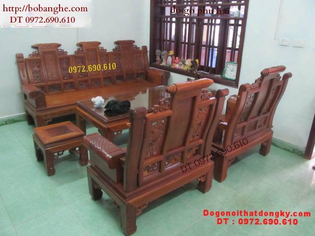 Bộ bàn ghế phòng khách ÂU Á Tay hộp AU1B