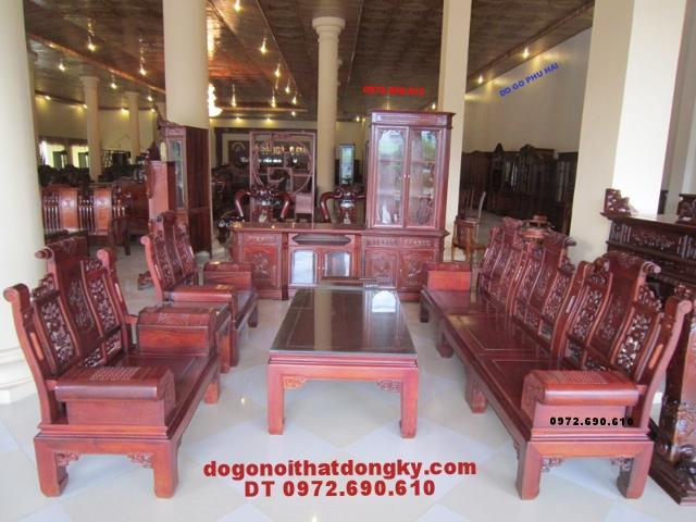 Bộ bàn ghế phòng khách kiểu ÂU Á Tay hộp AU2B