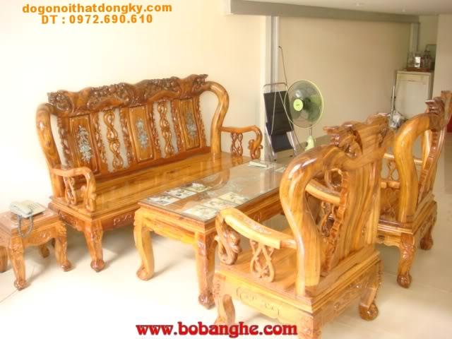 Bộ bàn ghế gỗ hương khảm ốc cột 10MHK01