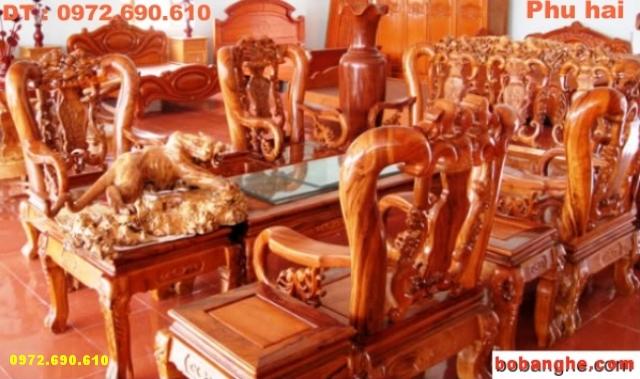 Bộ bàn ghế gỗ hương Minh quốc C10 MQC01