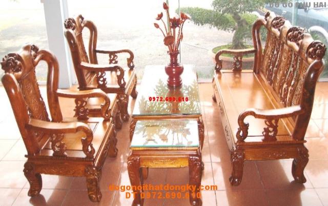 Bộ bàn ghế gỗ hương minh quoc đào V9 QD01
