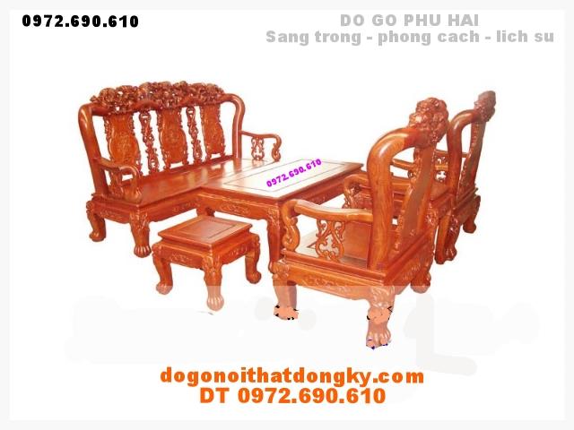 Bộ bàn ghế gỗ hương minh quoc V10 QH02