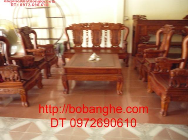 Bộ bàn ghế gỗ hương Minh Quốc Voi QV03