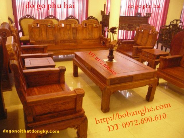 Bộ bàn ghế Như ý voi - Đồ gỗ đồng ky NY02A