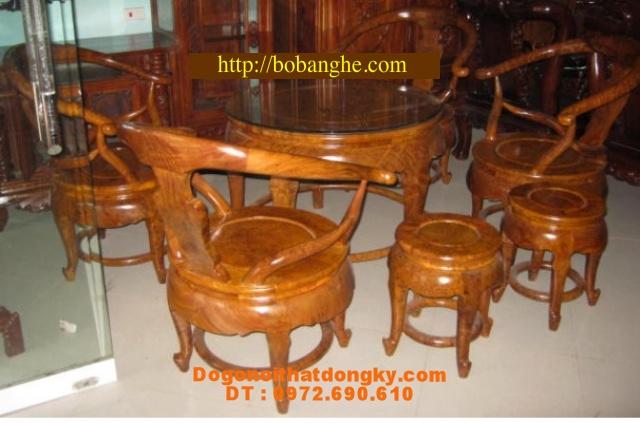 Đồ gỗ đồng ky Bộ Bàn tròn gỗ lu BT01