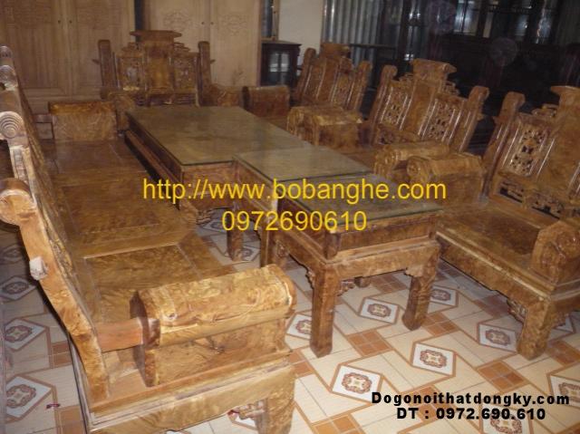 Bộ bàn ghế gỗ nu kiểu Âu Á Tay hộp NG2