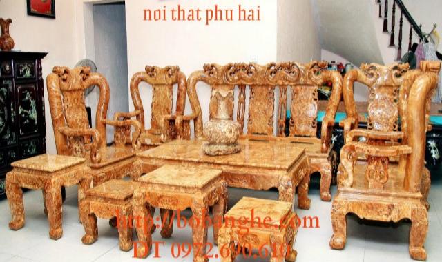 Bộ bàn ghế gỗ nu kiểu Minh Quốc NG04