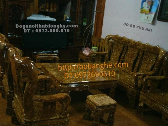 Bàn ghế gỗ nu nghiến Quốc Triện QTN2