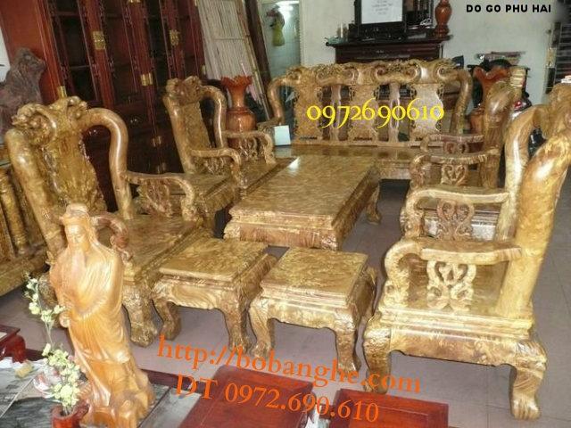Nơi bán Bàn ghế gỗ Nu nghiến Kiểu Minh quốc NG09