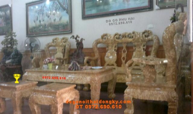 Bộ bàn ghế Đồng Kỵ Gỗ Nu nghiến Kiểu Minh quốc NG12