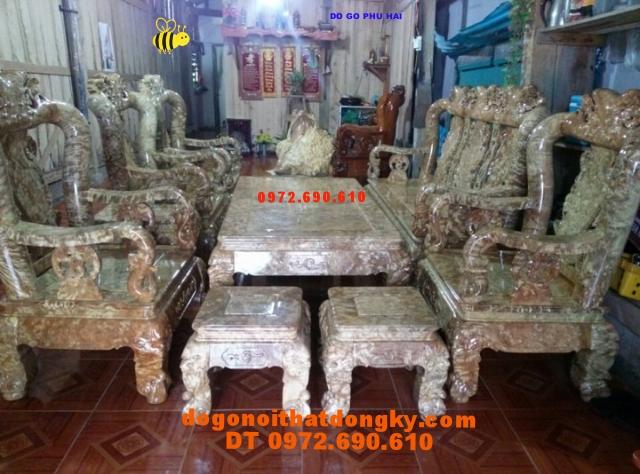 Bàn ghế quí hiếm gỗ Ngọc nghiến Kiểu Minh quốc NG13