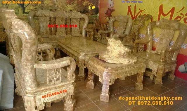 Bộ Bàn ghế đẹp gỗ Nu nghiến Kiểu quốc Triện QTN03
