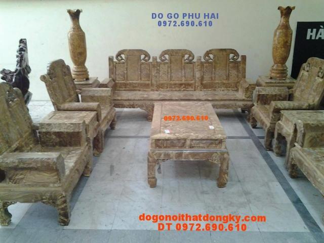 Bàn Ghế Phòng Khách gỗ Nu nghiến Như ý Voi NYL01
