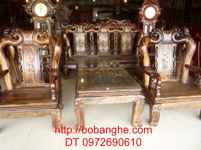Bộ bàn ghế gỗ mun gỗ Đồng kỵ Kiểu Quốc Đào GM05