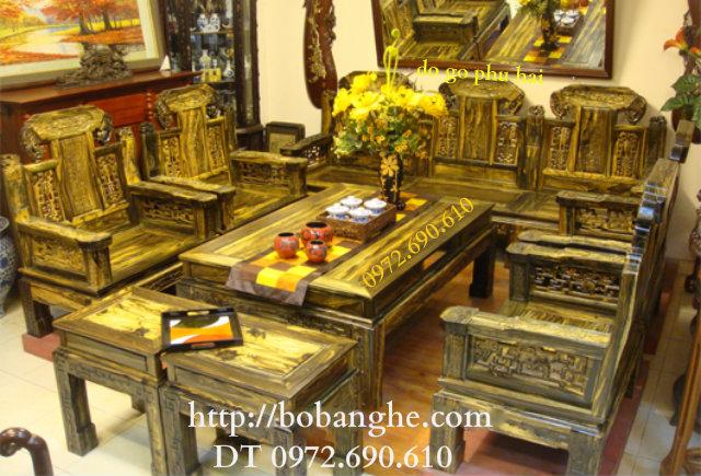 Đồ gỗ mỹ nghệ Bàn ghế gỗ mun Kiểu Như ý NY01