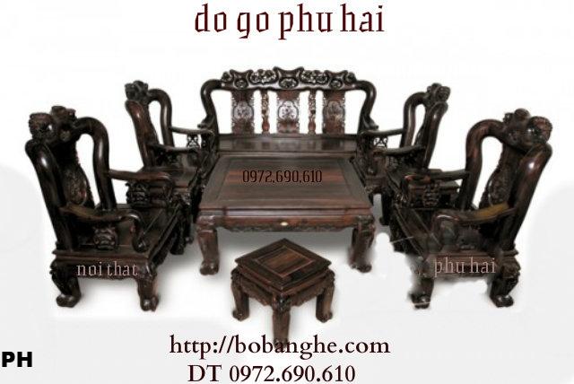Bàn ghế Kiểu Minh Quốc Hồng gỗ mun C12 QHM05