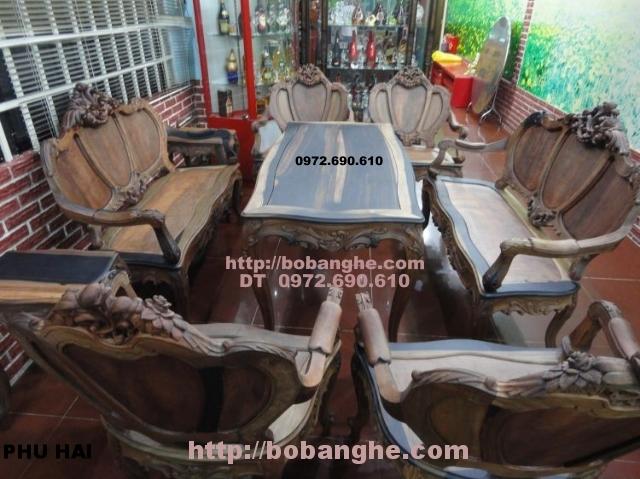 Đồ gỗ cao cấp Bộ bàn ghế phòng khách Louis 05