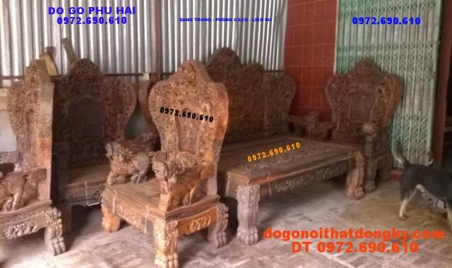 Đồ gỗ nội thất Phú Hải : Bộ bàn ghế Bát Mã BM01