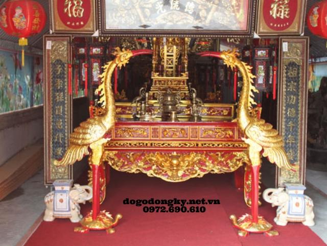 Bàn thờ Phật nhị cấp sơn son thếp vàng STV1