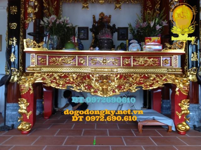 Bàn thờ gia tiên sơn son thếp vàng STV5