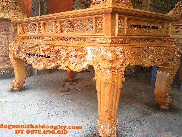 Sập thờ gỗ mít đẹp chạm dơi thọ do go dong ky ST47