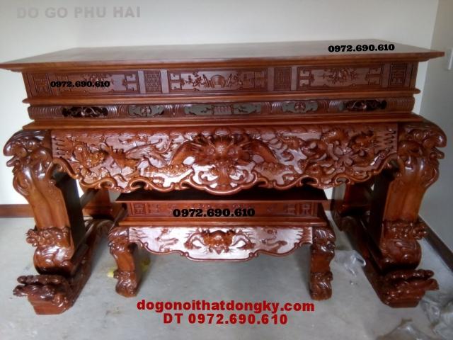 Bàn thờ hổ phù, đồ gỗ mỹ nghệ Đồng Kỵ ST49