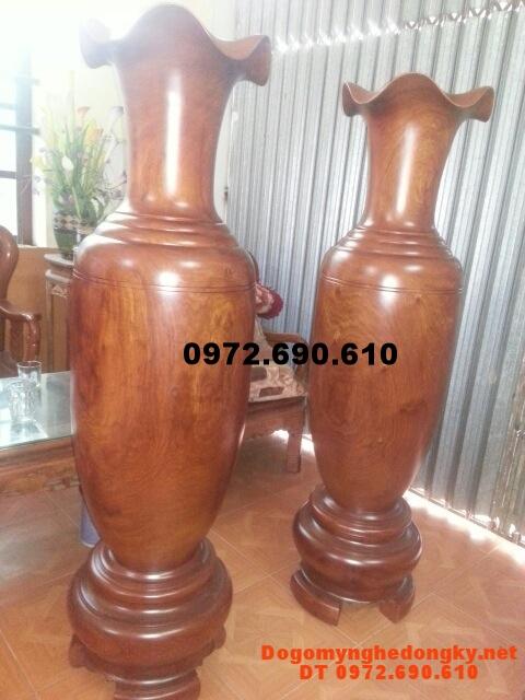 Quà tặng, Đôi Lộc Bình gỗ hương 160cm LB36