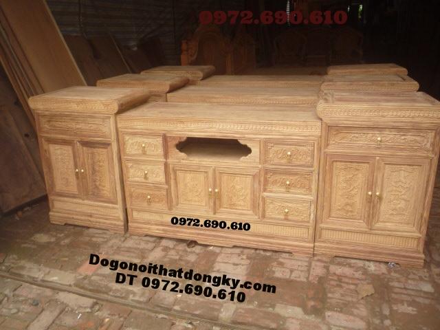 Kệ Tivi gỗ gụ hiện đại dogonoithatdongky.com KTV12