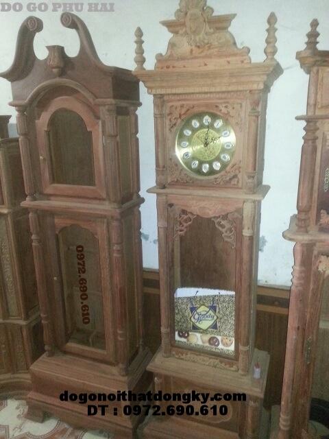Đồng hồ đứng gỗ hương DH42